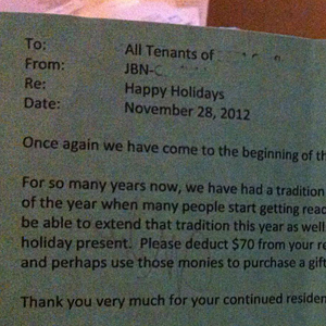 Fab landlord reduces rent for holidays, sparking pay-it-forward frenzy | It's Show Prep for Radio | Scoop.it