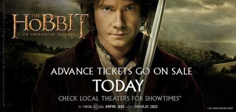 Advanced ticket sales for The Hobbit start, 450 theaters are ready for 48 fps 3D | All Geeks | Scoop.it
