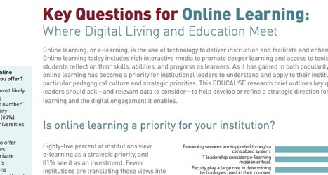 Key Questions for Online Learning Where Digital Living and Education Meet | Google, Apps, WebDev, UX | Scoop.it