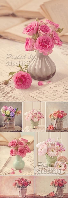 Stock Photo - Vintage Style Flowers | DesignFeed | Scoop.it