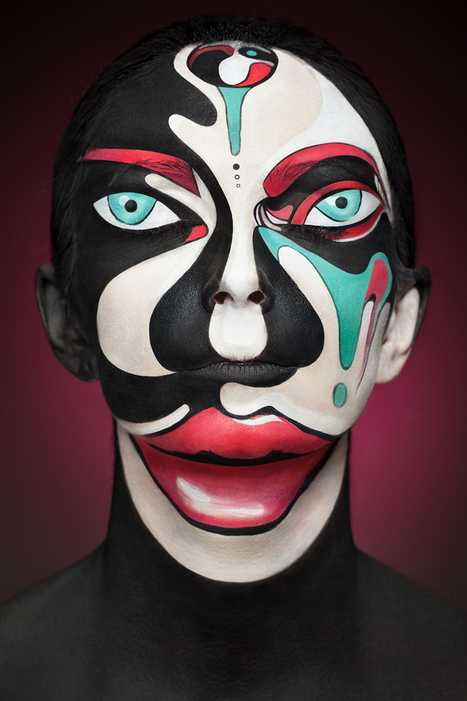 Faces of Models Transformed Into 2D Images with Face Paint | Colossal | Visual art | Scoop.it