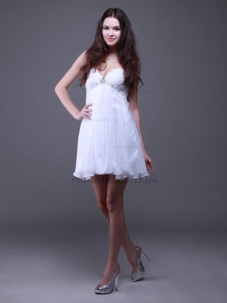 Strapless Sweetheart Mini Length White Cocktail Dresses [Mini Length White Cocktail Dresses] - $149.00 : Discount Dresses for Prom 2013,Up 50% Off   fashion   Scoop.it