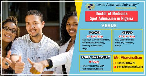 Texila American University Medical School Spot admission in Nigeria | Texila Health plus | Scoop.it