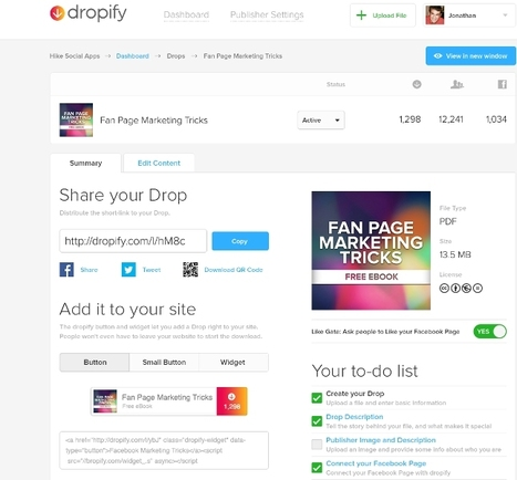 Dropify: Embed any file on Facebook for friends and fans to download directly | Marketing Strategy and Business | Scoop.it