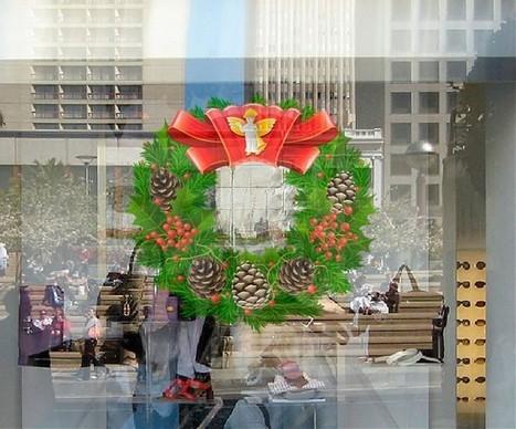 Vinilos navidad escaparates y vidrieras ideas - Decorativos para navidad ...