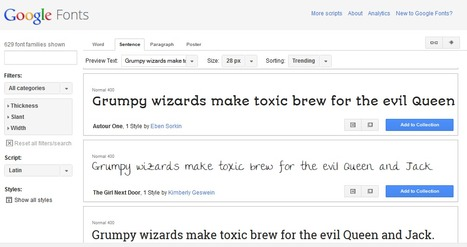 Google Fonts | Collection d'outils : Web 2.0, libres, gratuits et autres... | Scoop.it