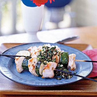 Spiedini of Chicken and Zucchini with Almond Salsa - YouChef | Abiye Modelleri | Scoop.it