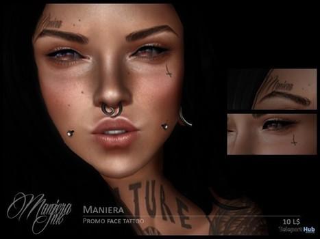 Maniera Face Tattoo 10L Promo by Maniera Ink | Teleport Hub - Second Life Freebies | Second Life Freebies | Scoop.it