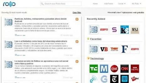Rolio, un nuevo lector de feeds, twitter y Facebook en la web | Recull diari | Scoop.it