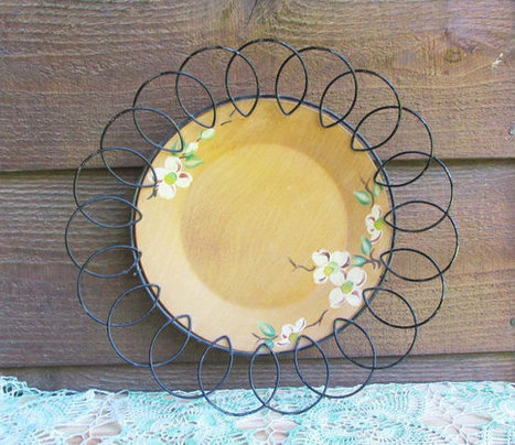 Folk Art Wood Plate, Norwegian Painted Plate, Shabby Chic | New inventions | Scoop.it