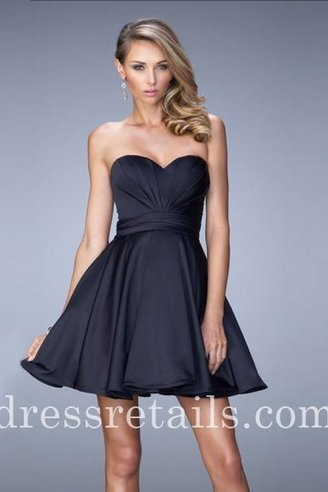A-line short empire homecoming dresses in navy La Femme 21950 [La Femme 21950] - $165.00 : Prom Dresses | Dresses From dressretails.com | Dresses for girls | Scoop.it