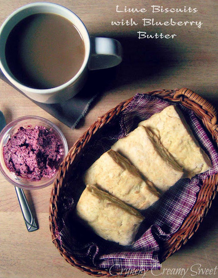 Crunchy Creamy Sweet: Lime Biscuits with Blueberry Butter | Living | Scoop.it