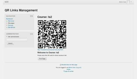 Introduce Your Class To Mobile And Ubiquitious Moodle With QR Links | Moodle and Web 2.0 | Scoop.it