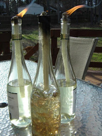 Transform a wine bottle into a tiki torch | Upcycled Garden Style | Scoop.it