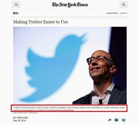 Twitter envisage de trier et sélectionner les Tweets de votre Timeline - #Arobasenet | François MAGNAN  Formateur Consultant | Scoop.it
