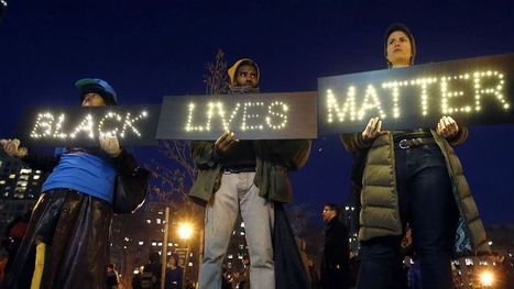 """I can't breathe."" Thousands protest police killings in New York 