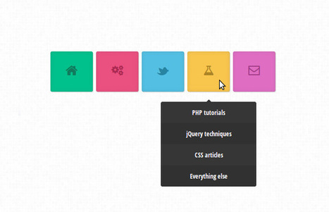 Colorful CSS3 Animated Navigation Menu   Tutorialzine   UI Design Inspiration   Scoop.it