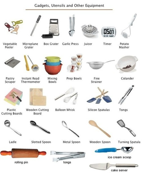 Kitchen utensils - equipment learning English | using IT in teaching | Scoop.it