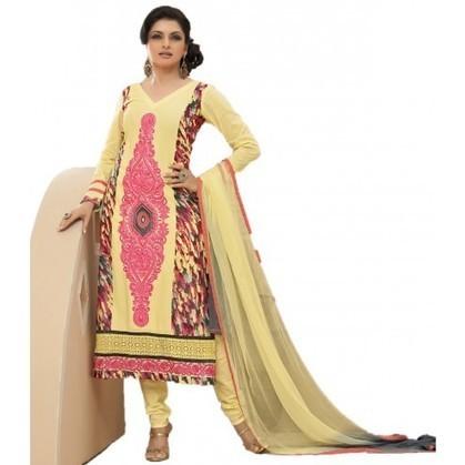 Bhagyashree Yellow Cotton Bollywood Churidar Kameez | Designer Salwar Kameez | Party Wear Salwar Kameez | Bollywood Churidar Salwar Kameez | Scoop.it
