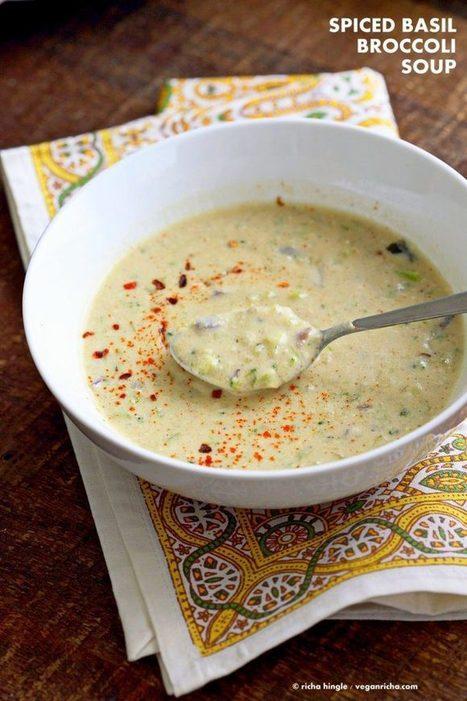 Spiced Creamy Broccoli Soup - Vegan Richa | Vegan Food | Scoop.it
