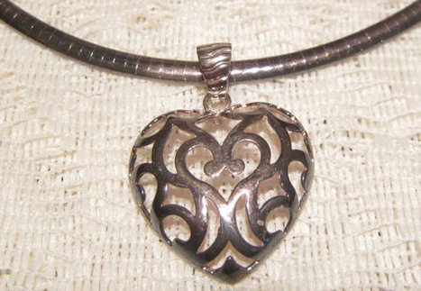 Milor Italy Sterling Silver Heart Pendant with Sterling Silver Chain | Fabulous Vintage Jewelry | Scoop.it
