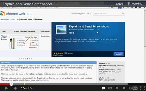 Explain and Send Screenshots | Digital Presentations in Education | Scoop.it