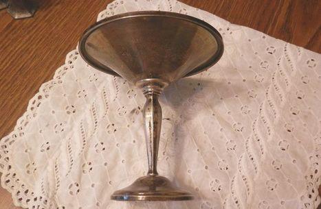 VTG. STERLING SILVER HUNT PEDESTAL COMPOTE NUT DISH SCRAP/NOT SCRAP MELT 7.9 OZ. | Beautiful Vintage Find!! | Scoop.it