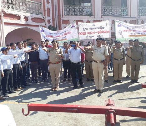 સુરત પાલિકા દ્વારા પોલીસ અને સૈનિકો સાથે સ્વચ્છતા અભિયાનની શરૂઆત | in-SURAT.info | Scoop.it