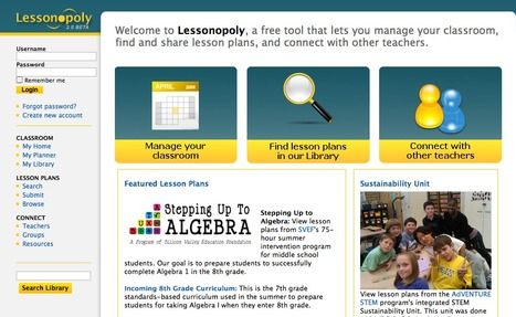 Lessonopoly - A free tool to manage classrooms, share lessons & connect with others | In The Classroom | Scoop.it