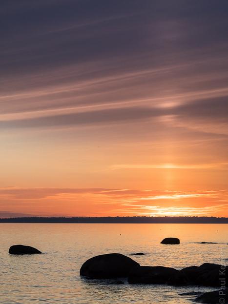 photo en Finistère, Bretagne et...: crépuscule à Trégunc : pilier solaire ? (3 photos) | photo en Bretagne - Finistère | Scoop.it