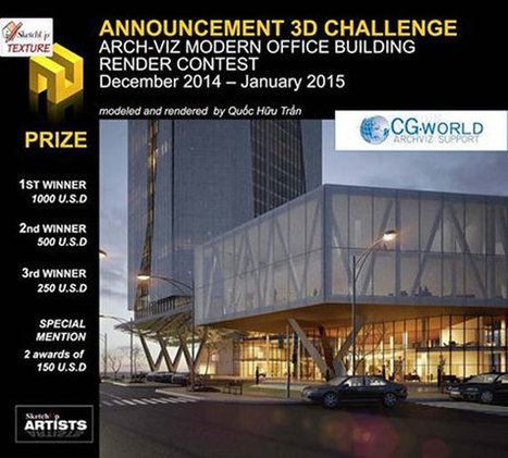 New 3d challenge Arch-Viz Modern Office Building Render Contest by Sketchup Texture   News from Italy about Design & 3D Graphic   Scoop.it