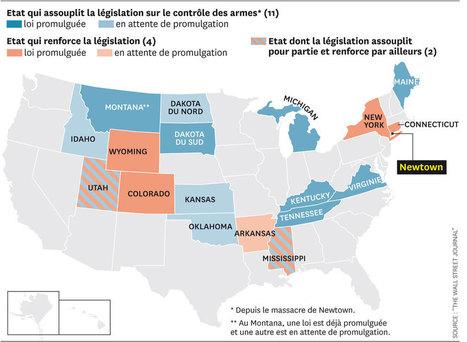 CARTOGRAPHIE • États-Unis : vers un meilleur contrôles des armes à feu - ou pas   Guns in USA   Scoop.it