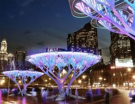 TREEPODS: Carbon-Scrubbing Artificial Trees for Boston City Streets   Inhabitat - Sustainable Design Innovation, Eco Architecture, Green Building - Tech And Geek   Sustainable Architecture   Scoop.it