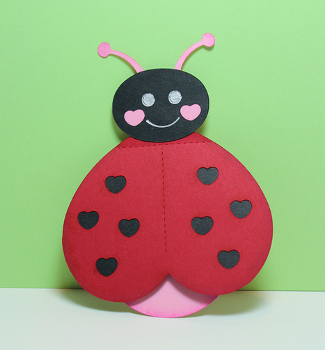 Preschool Crafts for Kids*: Valentine's Day Ladybug Heart Card Craft | Clever Valentine's Day Ideas | Scoop.it