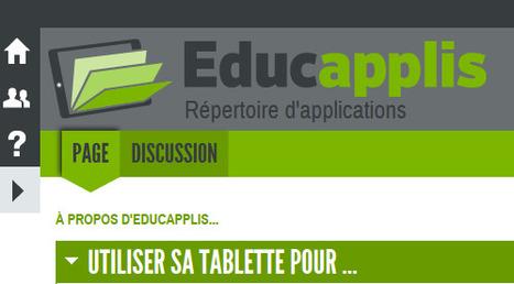 Répertoire d'applications — EDUCAPPLIS | Des outils pour une pratique des TICE | Scoop.it
