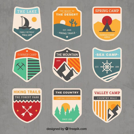 190+ Free Vector Badges You Can Use As Logos | Trousse à outils | Scoop.it