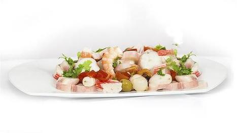 Menú saludable con salpicón de verduras y marisco | Recetas | Scoop.it