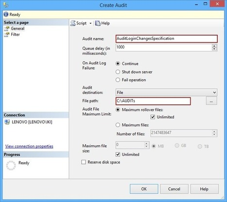 Auditing security changes in SQL Server - SQL solution center | SQL Server Auditing | Scoop.it
