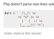 html - How do I display ASCII ART in php properly? - Stack Overflow | ASCII Art | Scoop.it