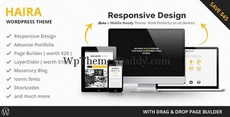 Premium Business WordPress Theme - Haira ~ Free WordPress Themes - WP Themes Daddy   Free Wordpress Themes   Scoop.it