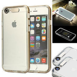 New Ultra Thin Clear Hybrid Incoming Call LED Blink/Flash Case For iPhone 6 4.7"