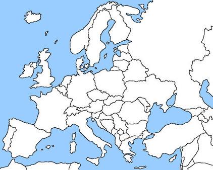 Λευκός χάρτης της Ευρώπης- Blank Europe map | Liquid Planet | Scoop.it