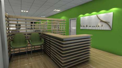 Modern Commercial Office interior 3d Rendering | Architecture Engineering & Construction | Scoop.it