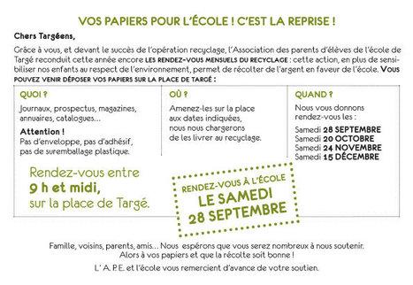 Vos papiers pour l'école! | Chatellerault, secouez-moi, secouez-moi! | Scoop.it