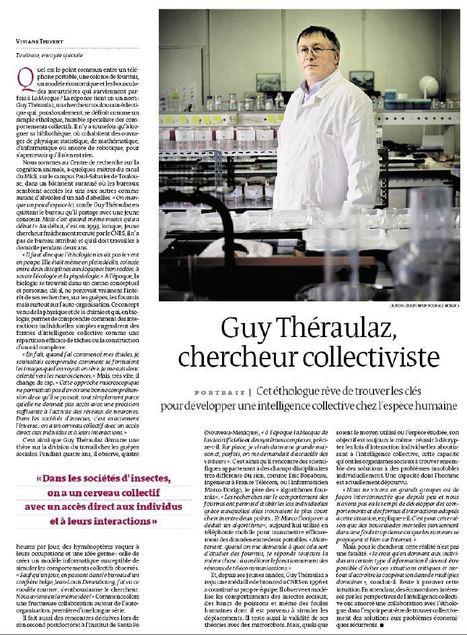 Guy Théraulaz, chercheur collectiviste | EntomoNews | Scoop.it