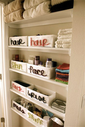 Tame the Shelves In Your Bathroom | Home & Office Organization | Scoop.it