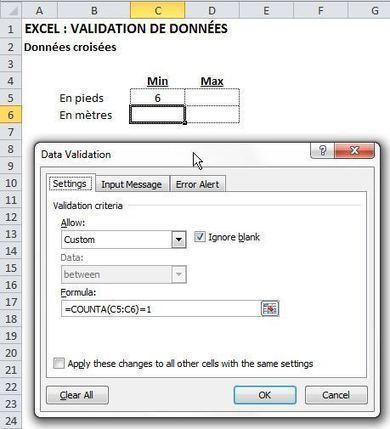 EXCEL: VALIDATION DE DONNÉES ALTERNATIVES   Modélisation financière   Scoop.it