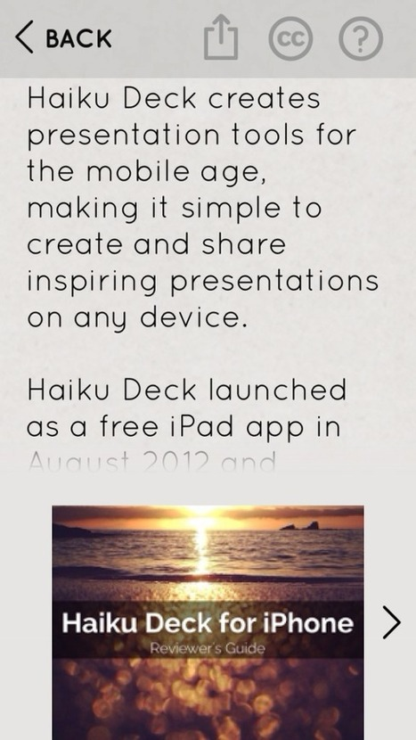 Presentation Ideas | Haiku Deck Blog | iPads | Scoop.it