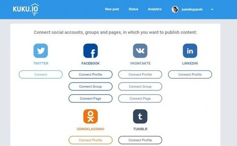 Kuku, nueva opción para publicar en varias redes sociales al mismo tiempo | Recull diari | Scoop.it