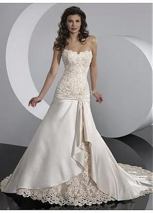 [224.04] Delicate Elegant Satin A-line Sweetheart Wedding Dress In Great Handwork - Dressilyme.com | Wedding dresses | Scoop.it